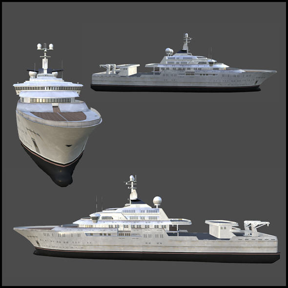 Mega Yacht - 3DOcean Item for Sale