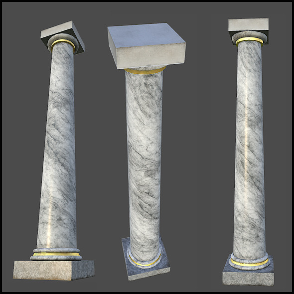 3DOcean White Marble Column 4509450