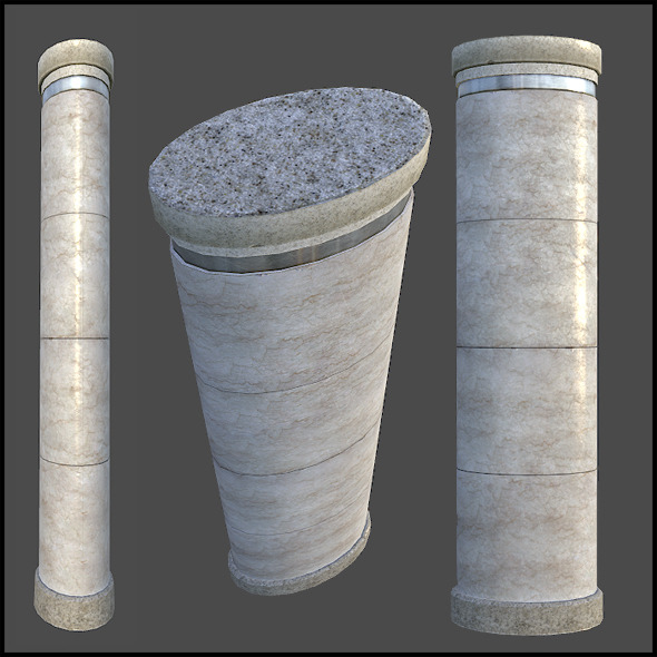 Marble Column - 3DOcean Item for Sale