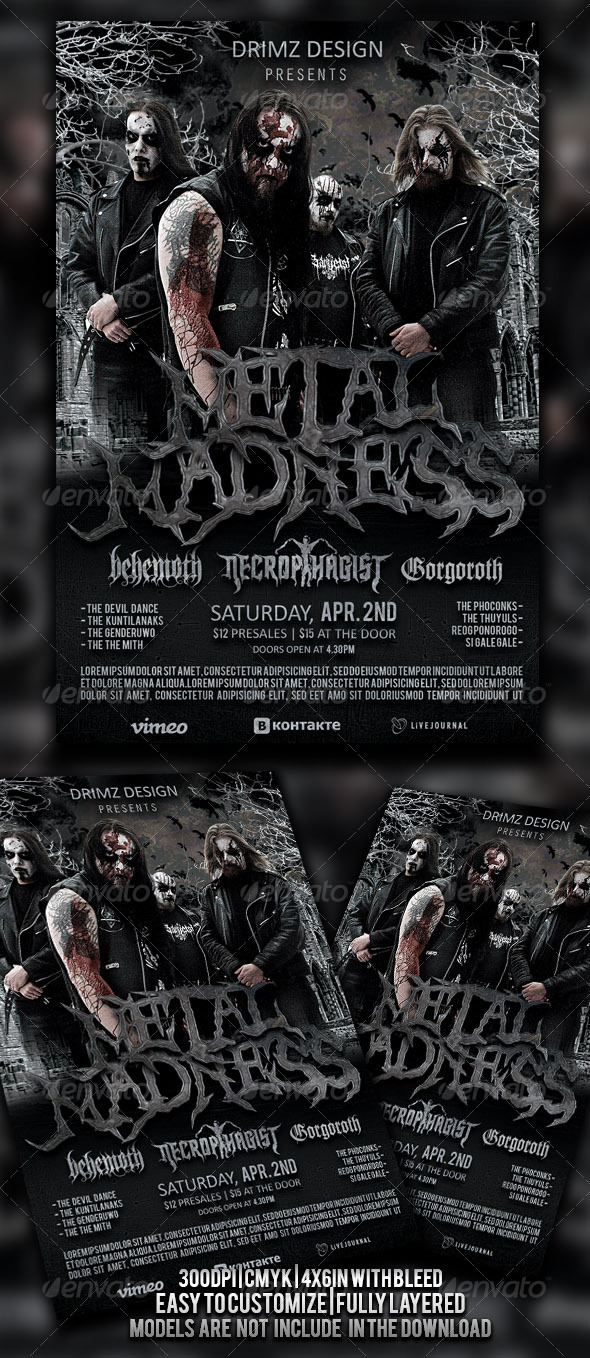 GraphicRiver Metal Madness Flyer 4509717