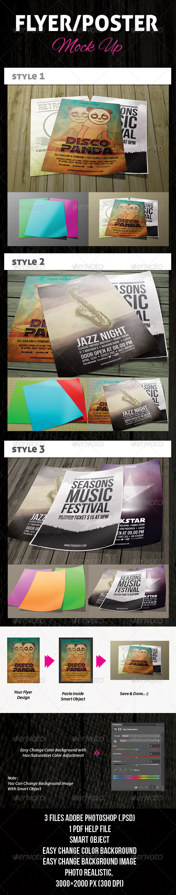GraphicRiver Flyer Poster Mock-Ups 4509727
