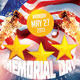 Memorial Day Party Flyer Template - GraphicRiver Item for Sale