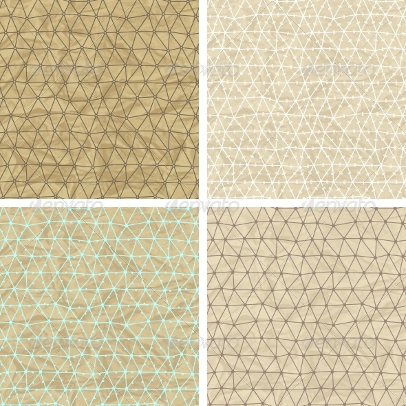 GraphicRiver Seamless Lace Patterns on Old Paper Texture 4509795