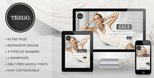 ThemeForest Trego eCommerce PSD Template 4510105