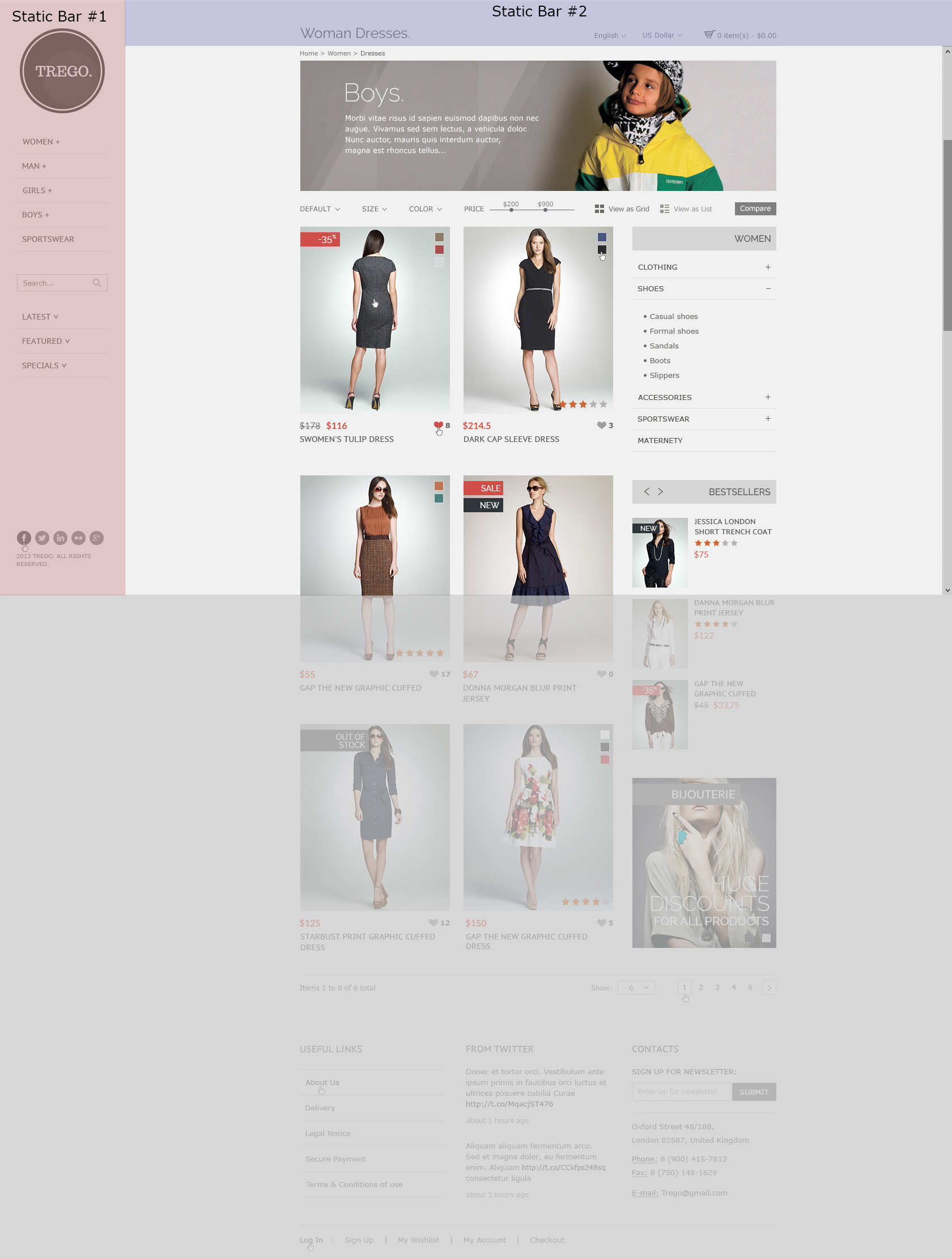 Trego - eCommerce PSD Template