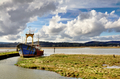 Boat on the Nith Estuary at Glencaple - PhotoDune Item for Sale