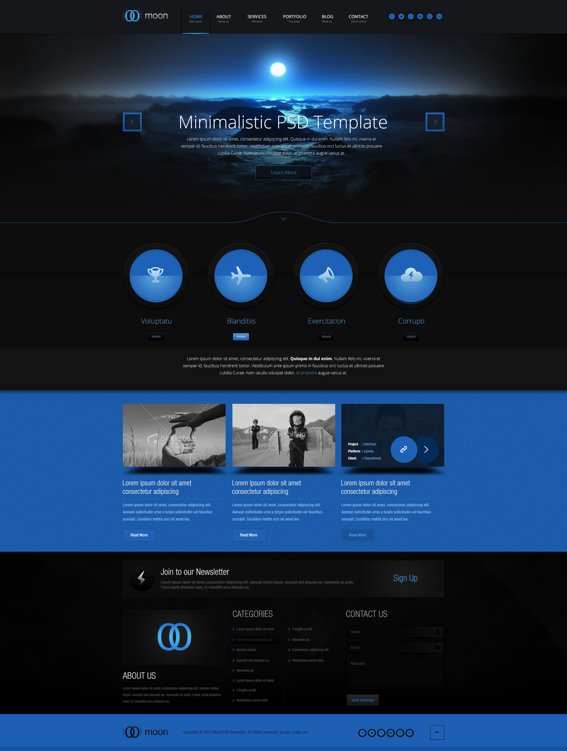 Moon psd template by cakirx themeforest 3d site