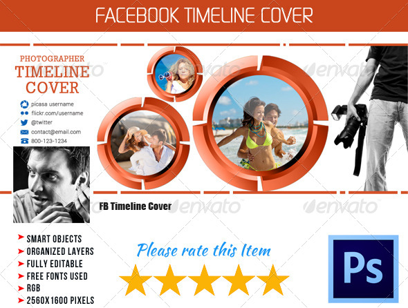 GraphicRiver Photographer FB Timeline Cover 06 4511520