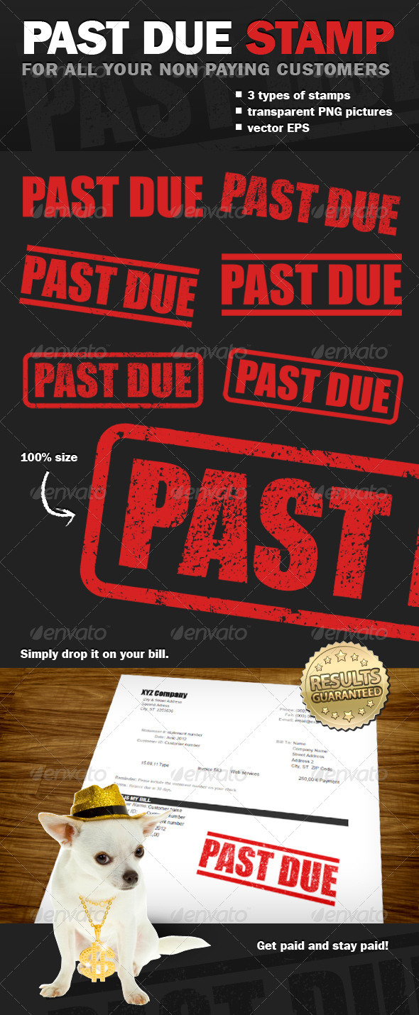 Past Due Stamp - Business Conceptual