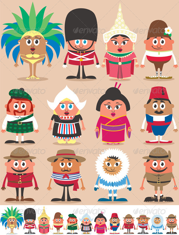 Nationalities Part 2 - People Characters