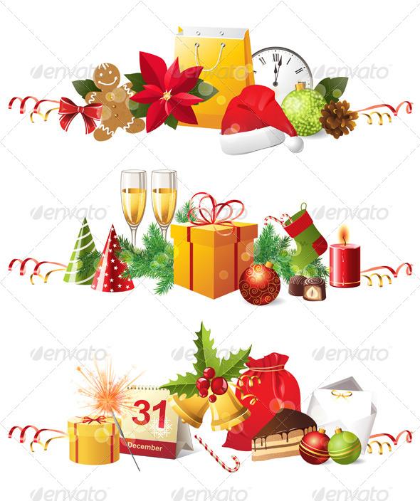 GraphicRiver Christmas Borders 4512363