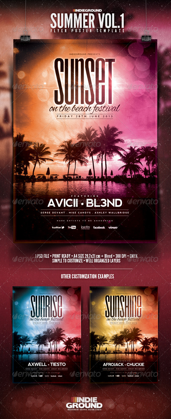 GraphicRiver Summer Flyer Poster 4512474