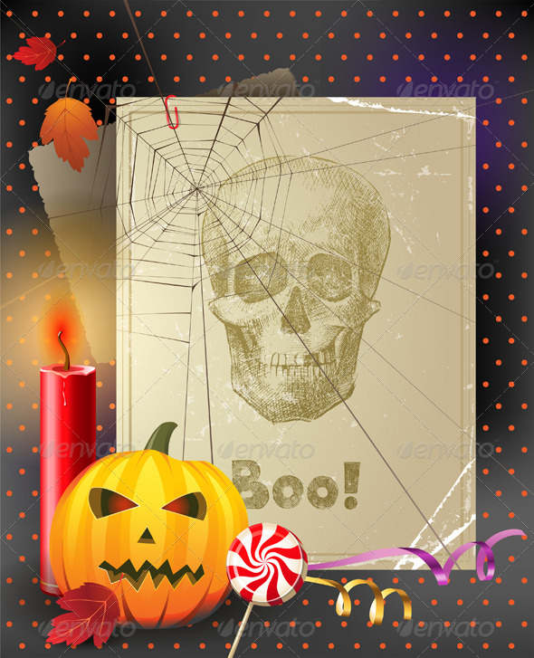 GraphicRiver Vintage Halloween Background 4512478