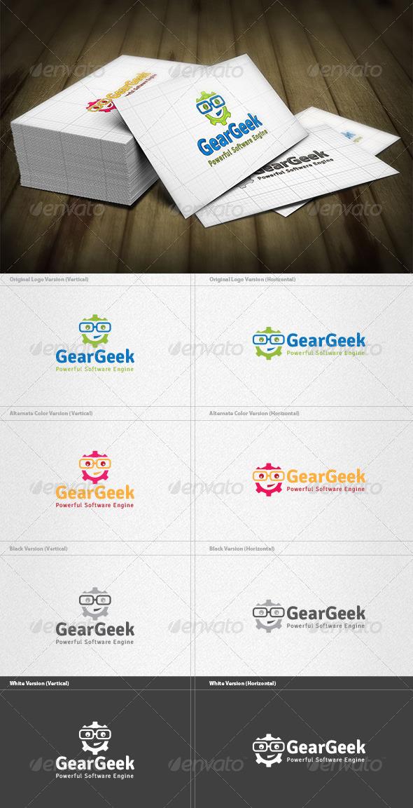 GraphicRiver Gear Geek Logo 4512579