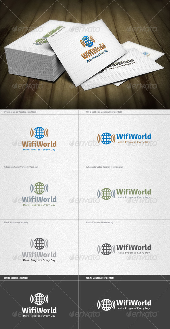 GraphicRiver Wifi World Logo 4512648