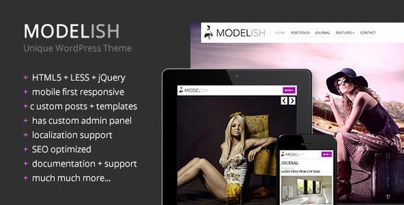 ThemeForest Modelish Unique WordPress Theme 4501792