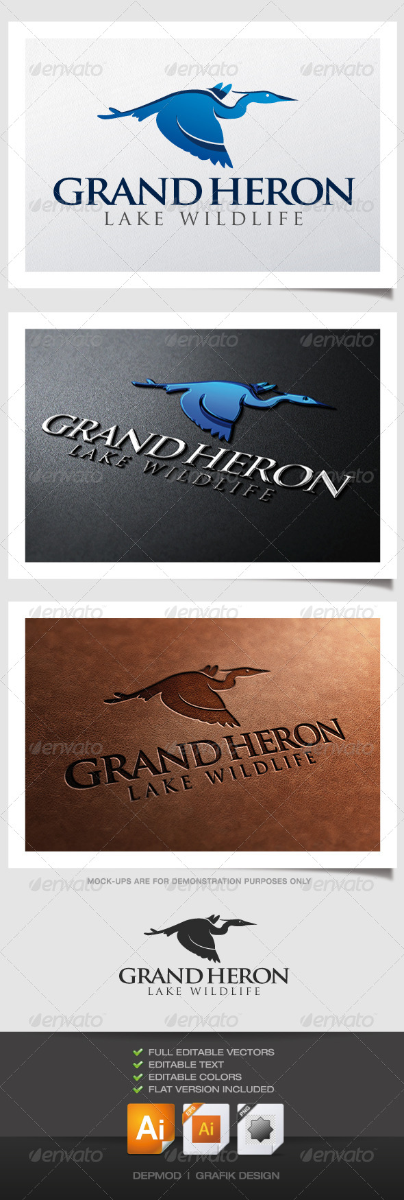 GraphicRiver Grand Heron Logo 4512729
