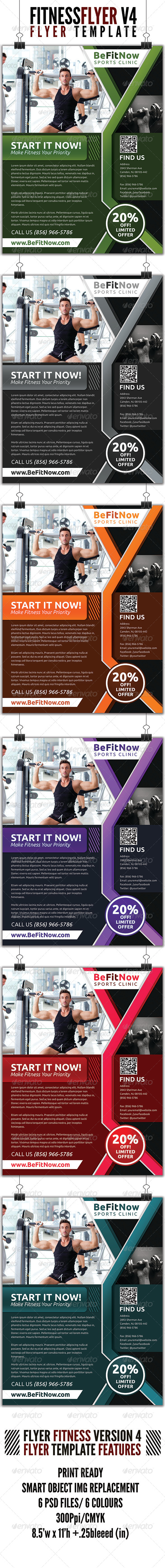 GraphicRiver Fitness Flyer V4 4512757