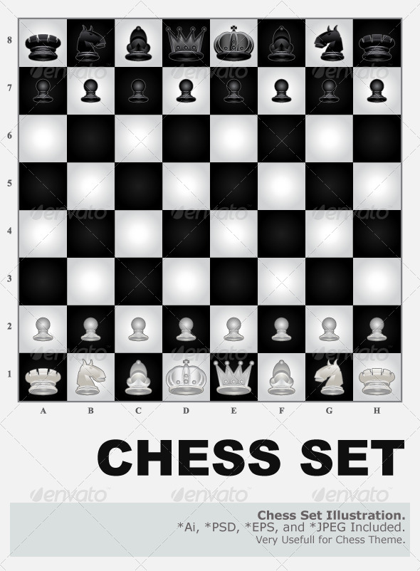 GraphicRiver Chess Set 4512986
