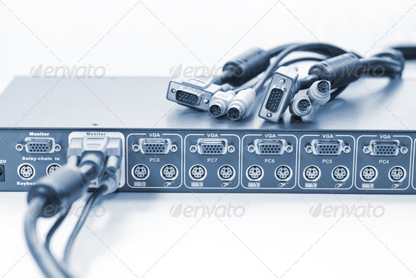 KVM Switch and Cables - Stock Photo - Images