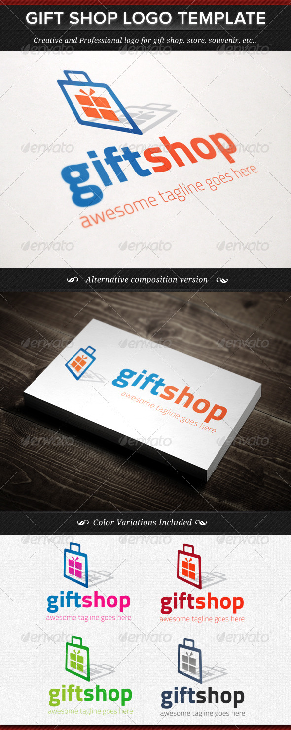 GraphicRiver Gift Shop Logo Template 4513045