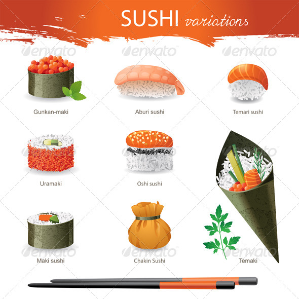GraphicRiver Sushi 4513100