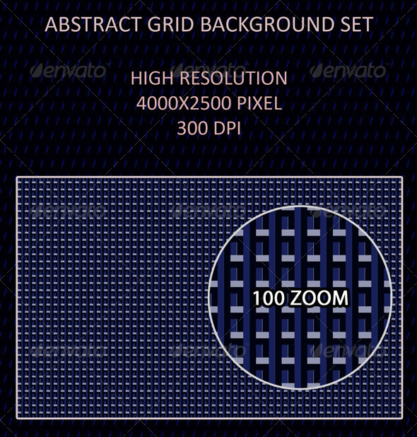GraphicRiver Abstract Grid Background Set 4513147