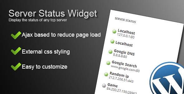 CodeCanyon Server Status Widget 4513205