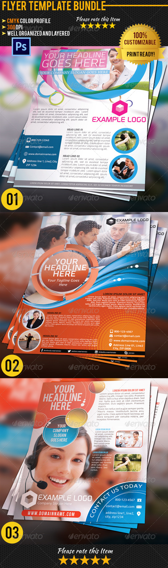 GraphicRiver Corporate Business Flyer Bundle 01 4513304