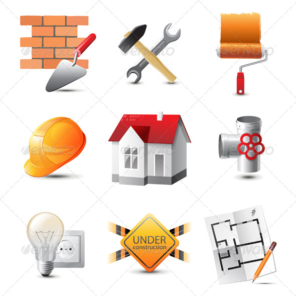GraphicRiver Building Icons 4513309