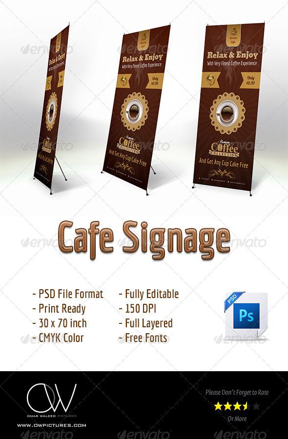 Cafe Signage Banner - Signage Print Templates