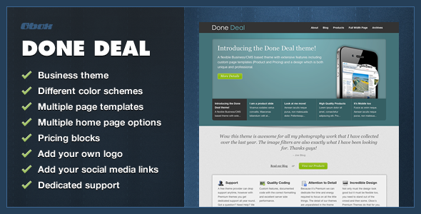 Done Deal - Corporate WordPress