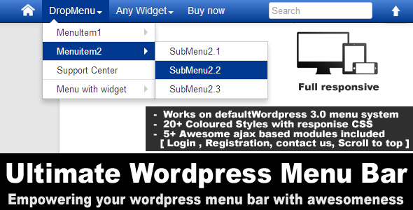 DropMenu Eventuella Widgets Köp nu Menyalternativ Menuitem2 SubMenu2.1 Support Center SubMenu2i Meny med widget SubMenu2.3 Full lyhörd Works defaultWordpress 3.0