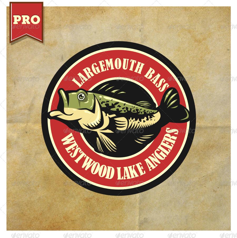Largemouth bass fishing logo by suhandi graphicriver for Bass fishing logos