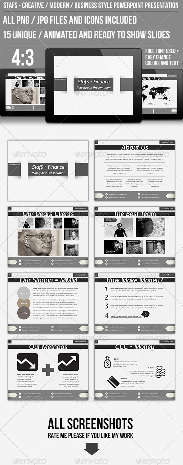 GraphicRiver StafS Powerpoint Presentation 4514353