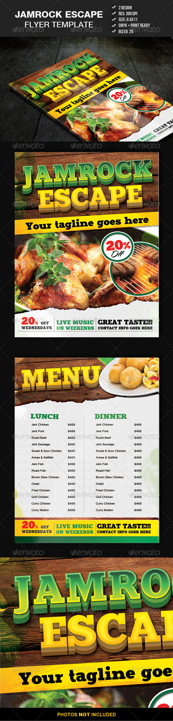 GraphicRiver Jamrock Escape Flyer Template 4514375