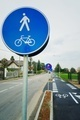 Bicycle and pedestrian shared route sign - PhotoDune Item for Sale
