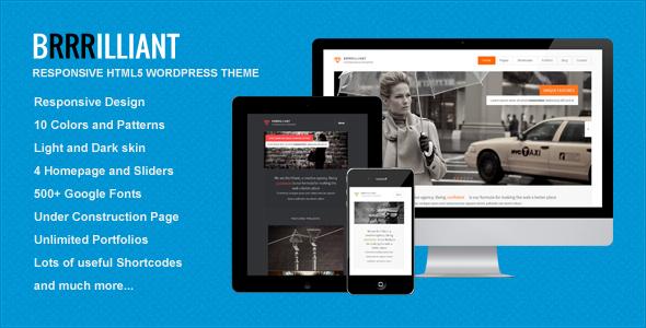 ThemeForest Brrrilliant Wordpress Responsive HTML5 Template 4493233