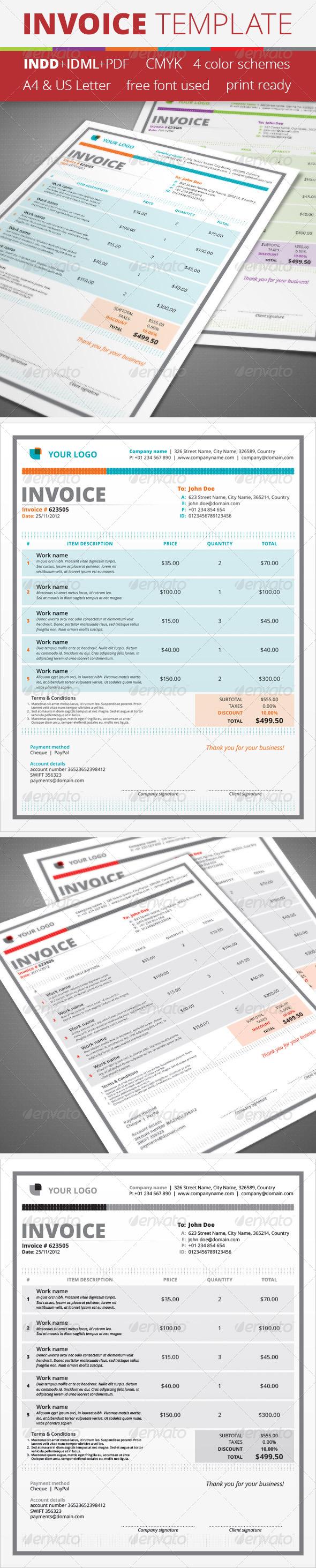 GraphicRiver Invoice Template 4432889