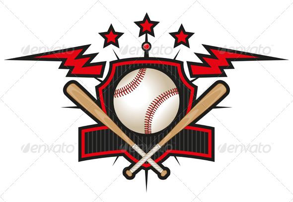 GraphicRiver Baseball Emblem 4514777
