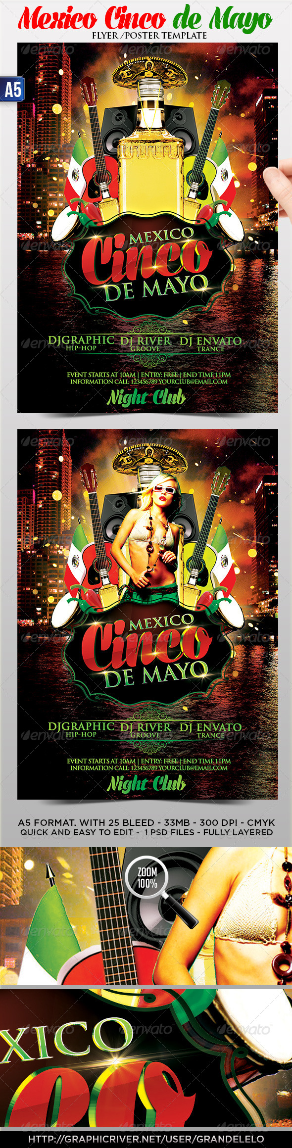 GraphicRiver Cinco de Mayo Flyer Poster Template 4435134