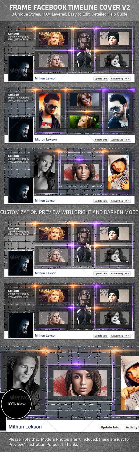 Frame Facebook Timeline Cover V2 - Facebook Timeline Covers Social Media