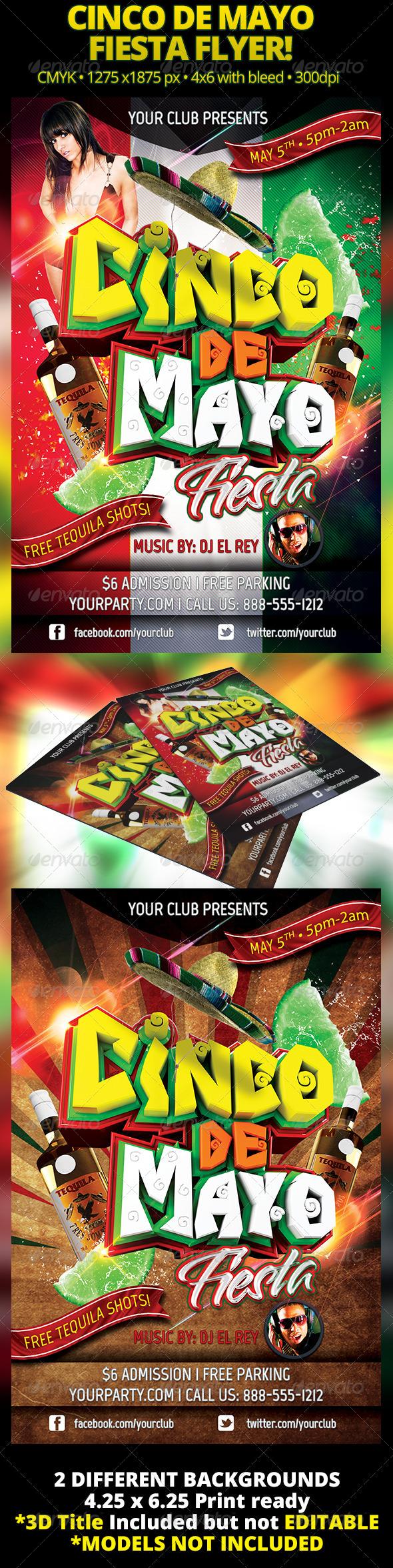 GraphicRiver Cinco De Mayo Fiesta Flyer 4378413