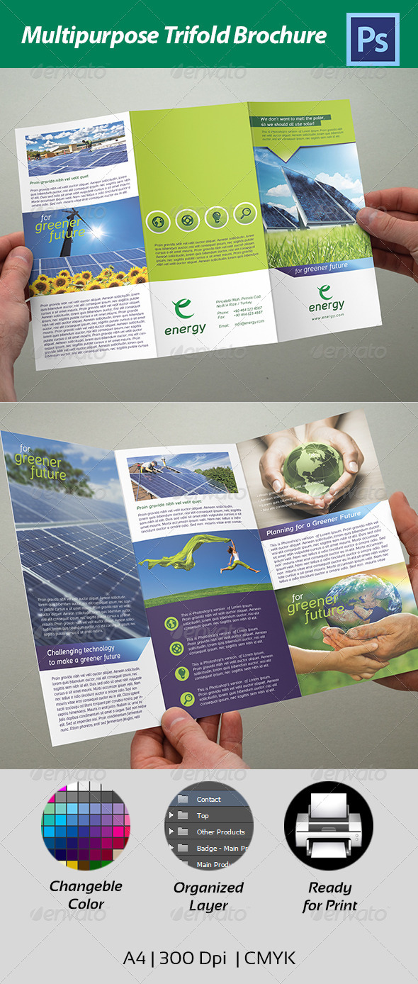 GraphicRiver Trifold Multipurpose Brochure 4433187
