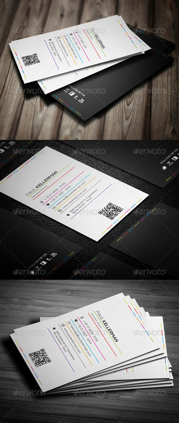 GraphicRiver Colors Line Business Card 4515217