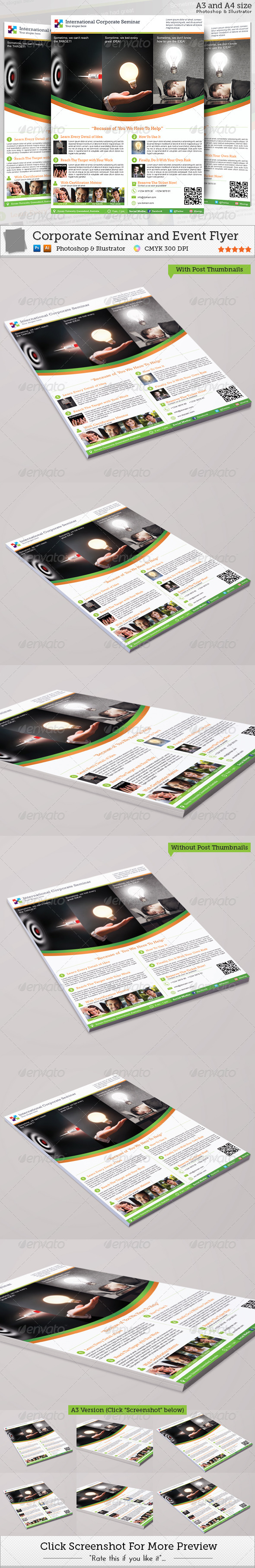 GraphicRiver Corporate Seminar and Event Flyer 4515425
