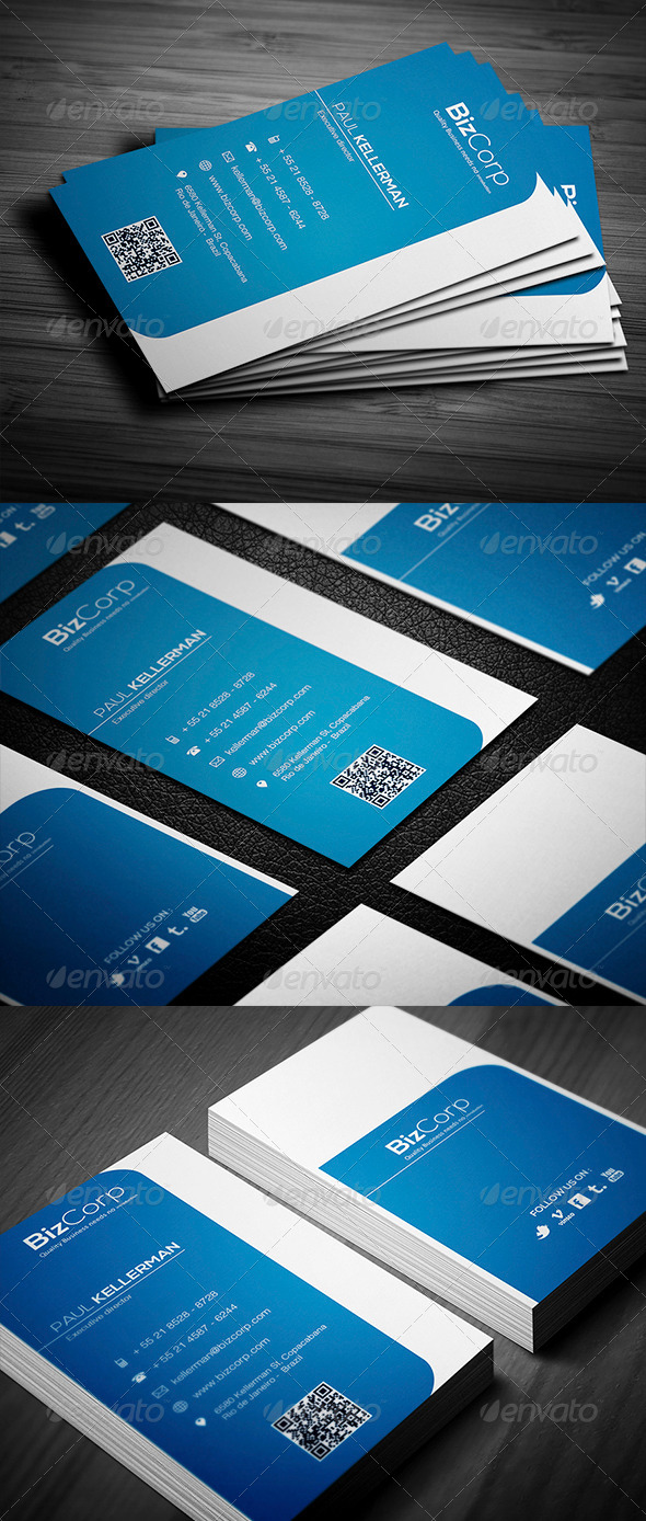 GraphicRiver Blue Clean Business Card 4515512