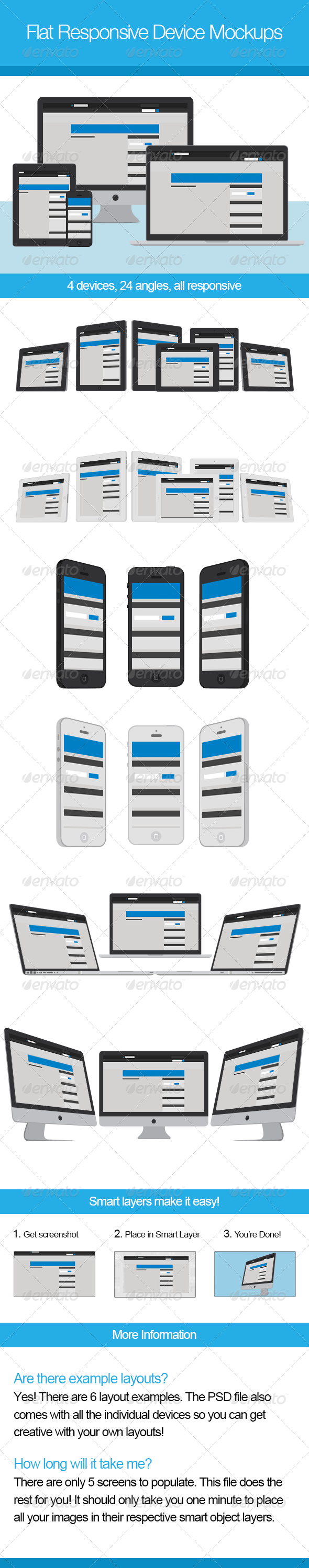 GraphicRiver Flat Responsive Device Mockups 4444177