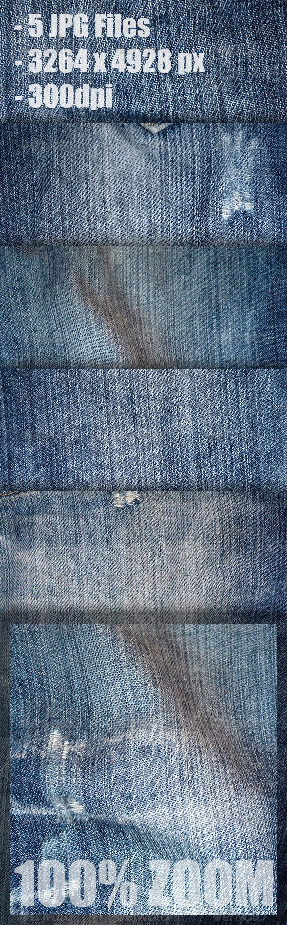 GraphicRiver 5 jeans textures 4484703