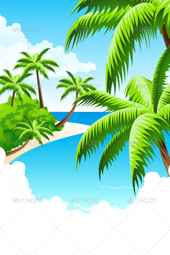 GraphicRiver Summer Vacation Background 4516258